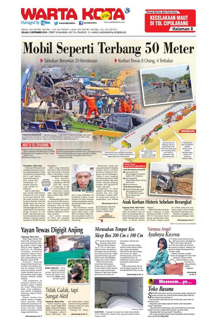 WARTA KOTA Digital Newspaper 03 September 2019