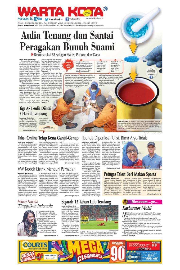 WARTA KOTA Digital Newspaper 06 September 2019