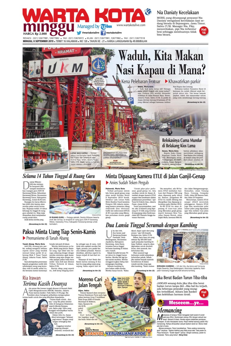 WARTA KOTA Digital Newspaper 08 September 2019