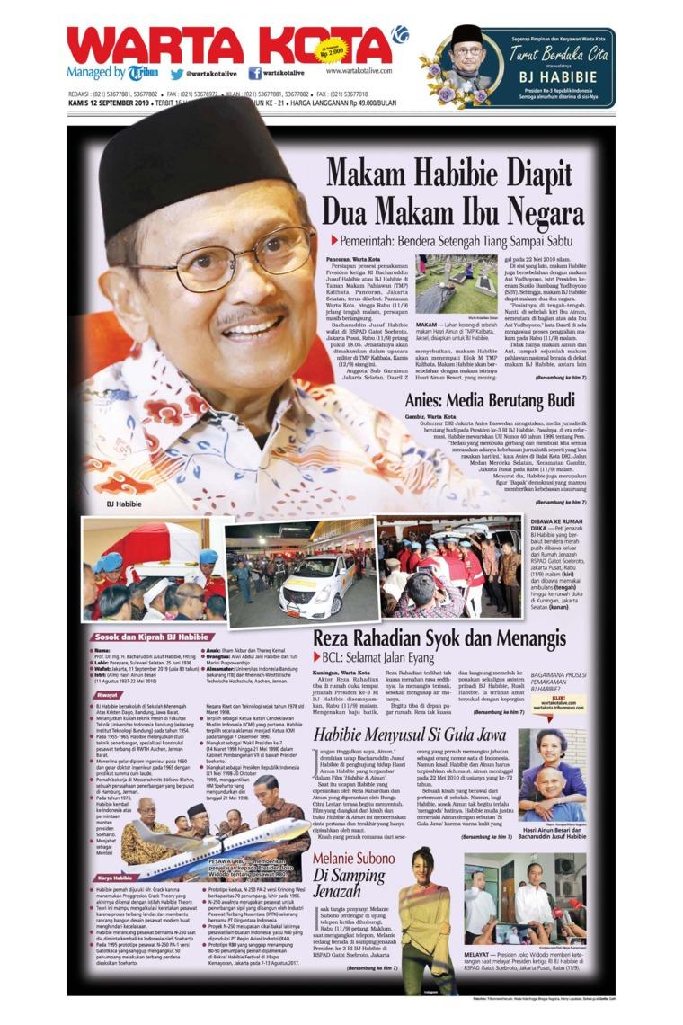 WARTA KOTA Digital Newspaper 12 September 2019