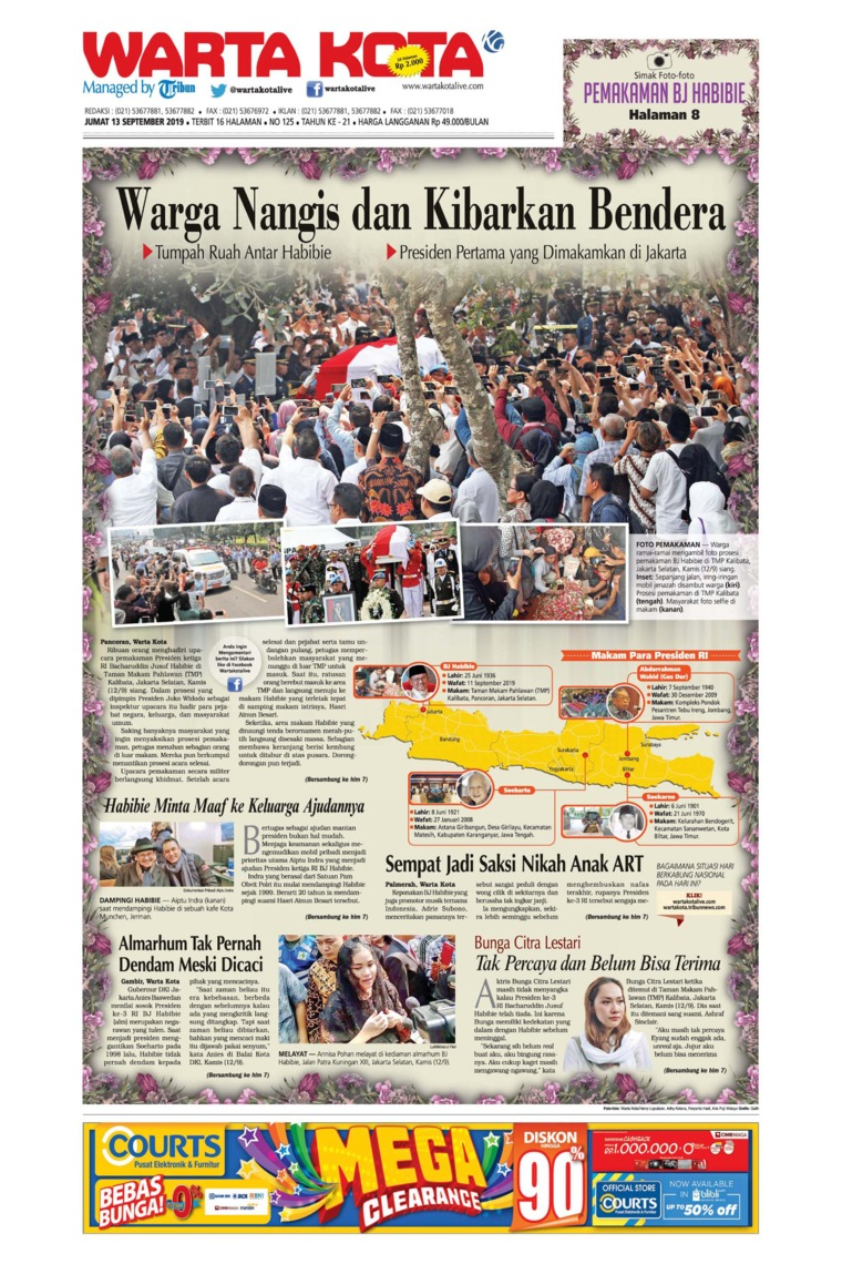WARTA KOTA Digital Newspaper 13 September 2019