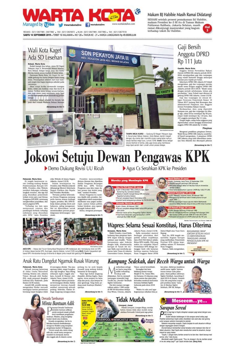 WARTA KOTA Digital Newspaper 14 September 2019
