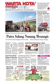 Cover WARTA KOTA 21 Juli 2019