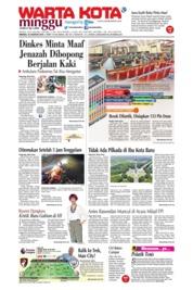 Cover WARTA KOTA 25 Agustus 2019