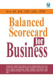 Balanced Scorecard for Business by Hery, S.E., M.Si., CRP., RSA., CFRM. Cover