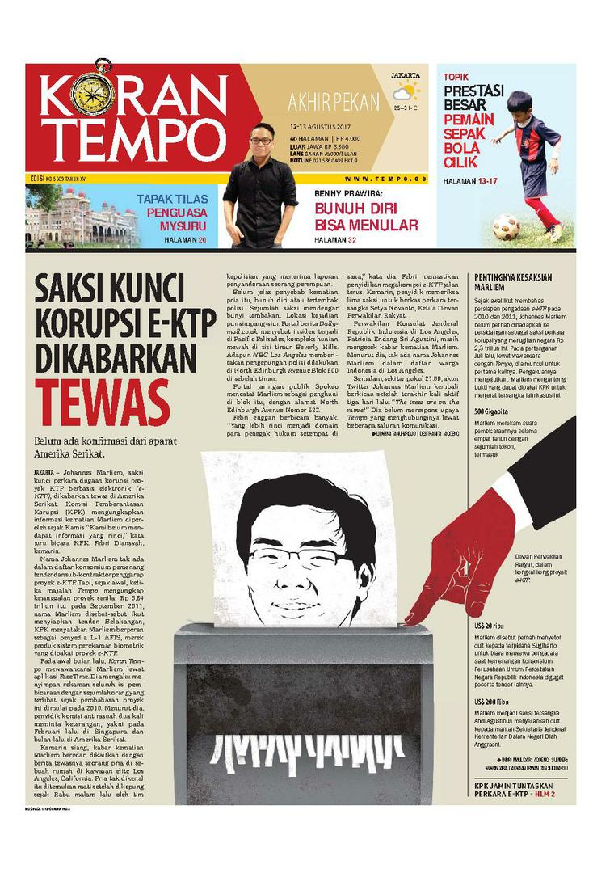 Koran Digital Koran TEMPO 12 Agustus 2017