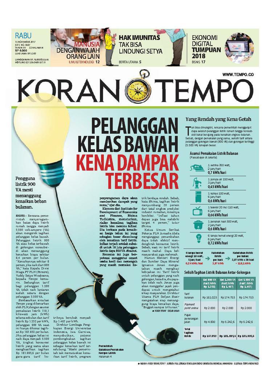 Koran Digital Koran TEMPO 15 November 2017