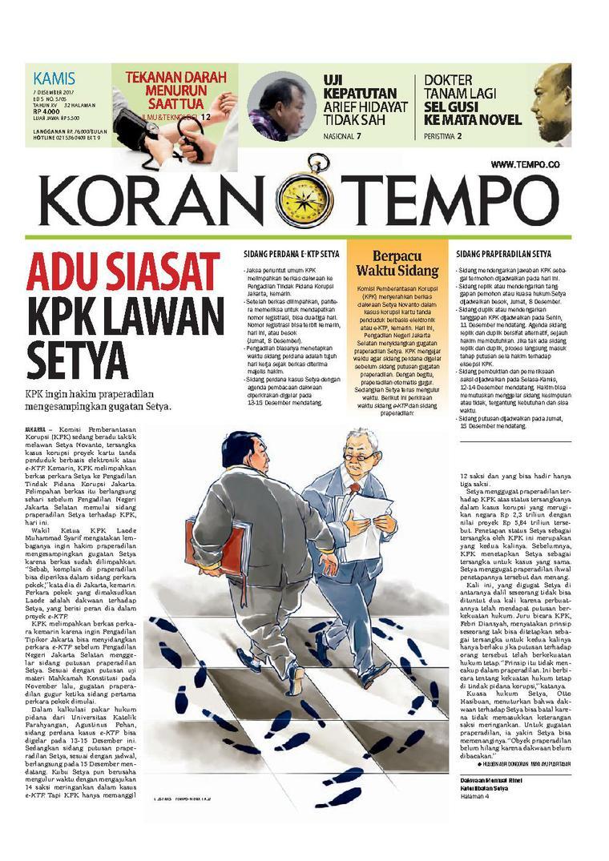 Koran Digital Koran TEMPO 07 Desember 2017