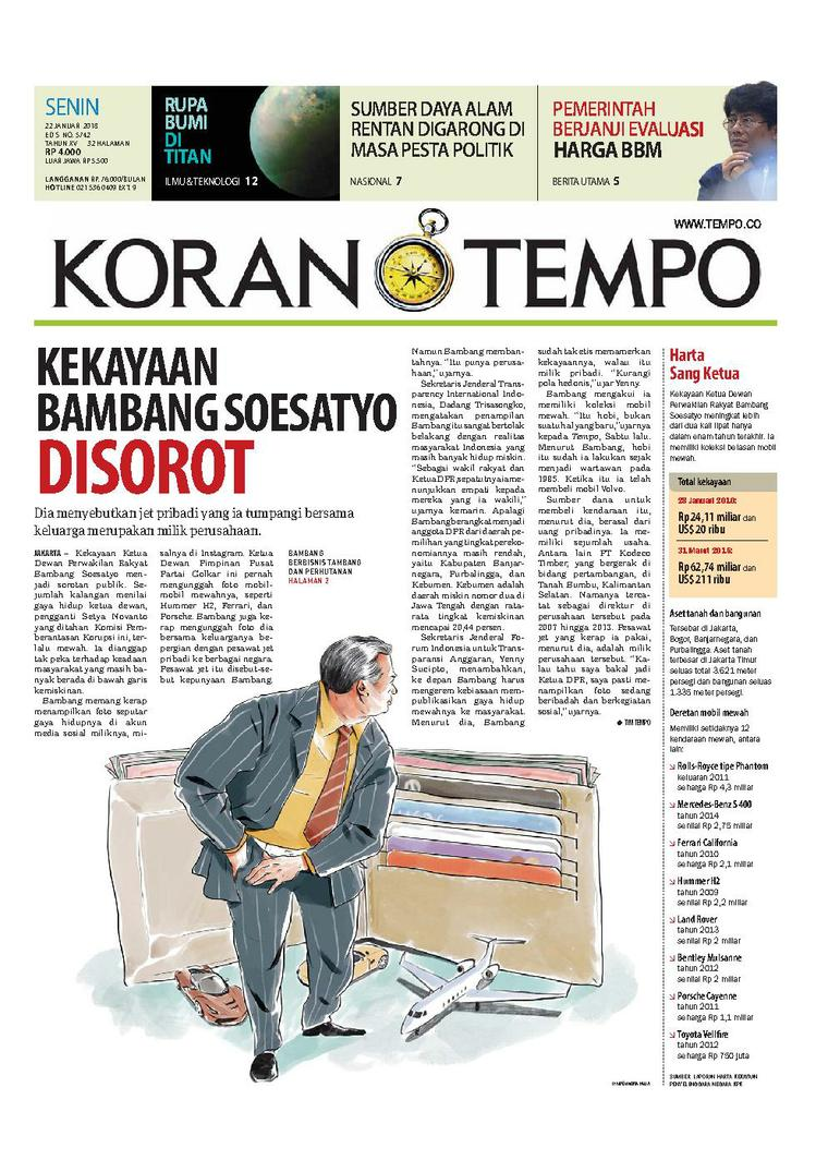 Koran Digital Koran TEMPO 22 Januari 2018
