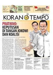 Cover Koran TEMPO 13 Maret 2018