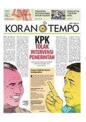 Cover Koran TEMPO 14 Maret 2018