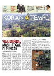 Cover Koran TEMPO 19 Maret 2018