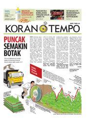 Cover Koran TEMPO 21 Maret 2018