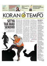Cover Koran TEMPO 23 Maret 2018