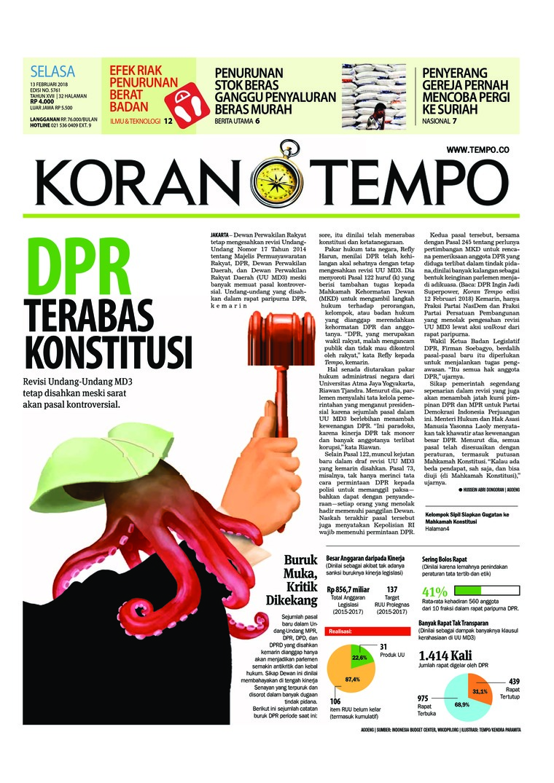 Koran Digital Koran TEMPO 13 Februari 2018