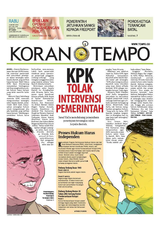 Koran Digital Koran TEMPO 14 Maret 2018