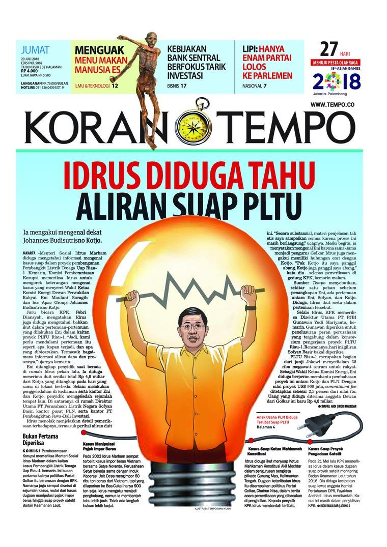 Koran Digital Koran TEMPO 20 Juli 2018