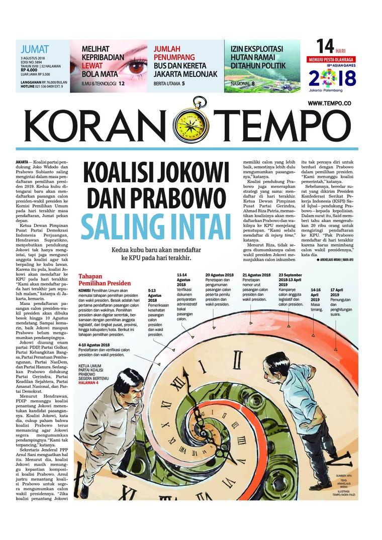 Koran Tempo Newspaper 03 August 2018 Gramedia Digital Bali Photo Tour 17 19 Agustus