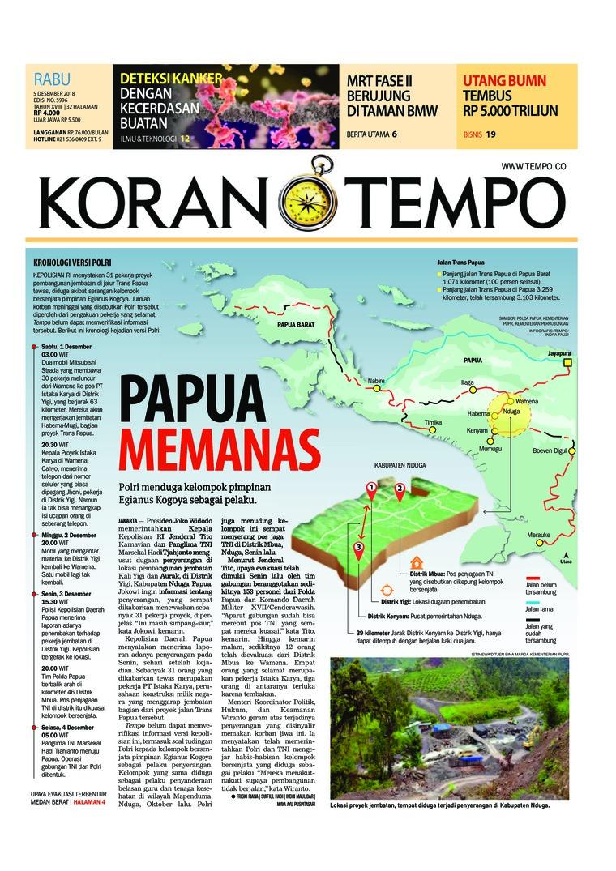 Koran Digital Koran TEMPO 05 Desember 2018
