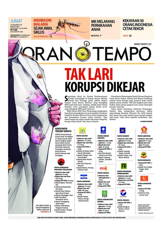 Koran Digital Koran TEMPO 14 Desember 2018