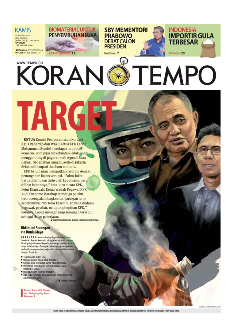 Koran Digital Koran TEMPO 10 Januari 2019