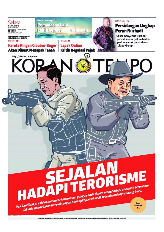 Koran Digital Koran TEMPO 15 Januari 2019