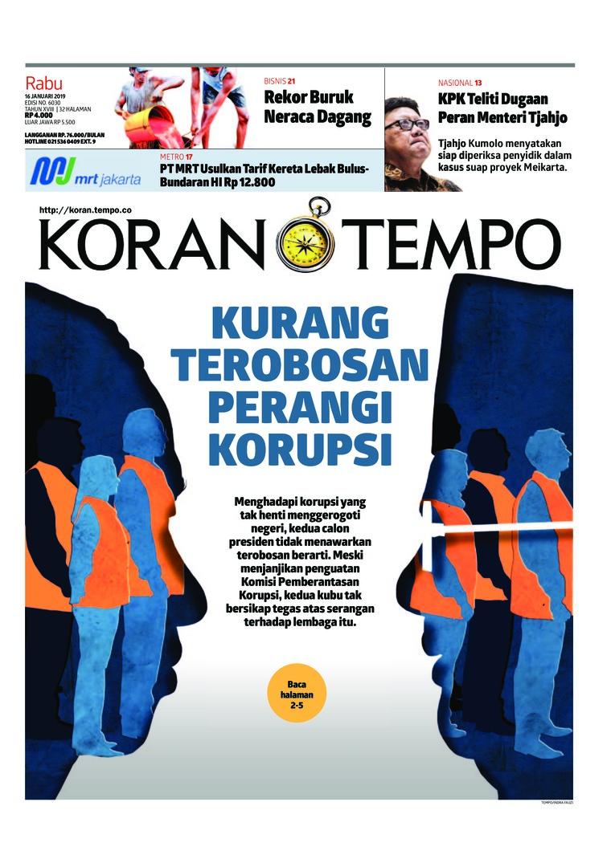 Koran Digital Koran TEMPO 16 Januari 2019