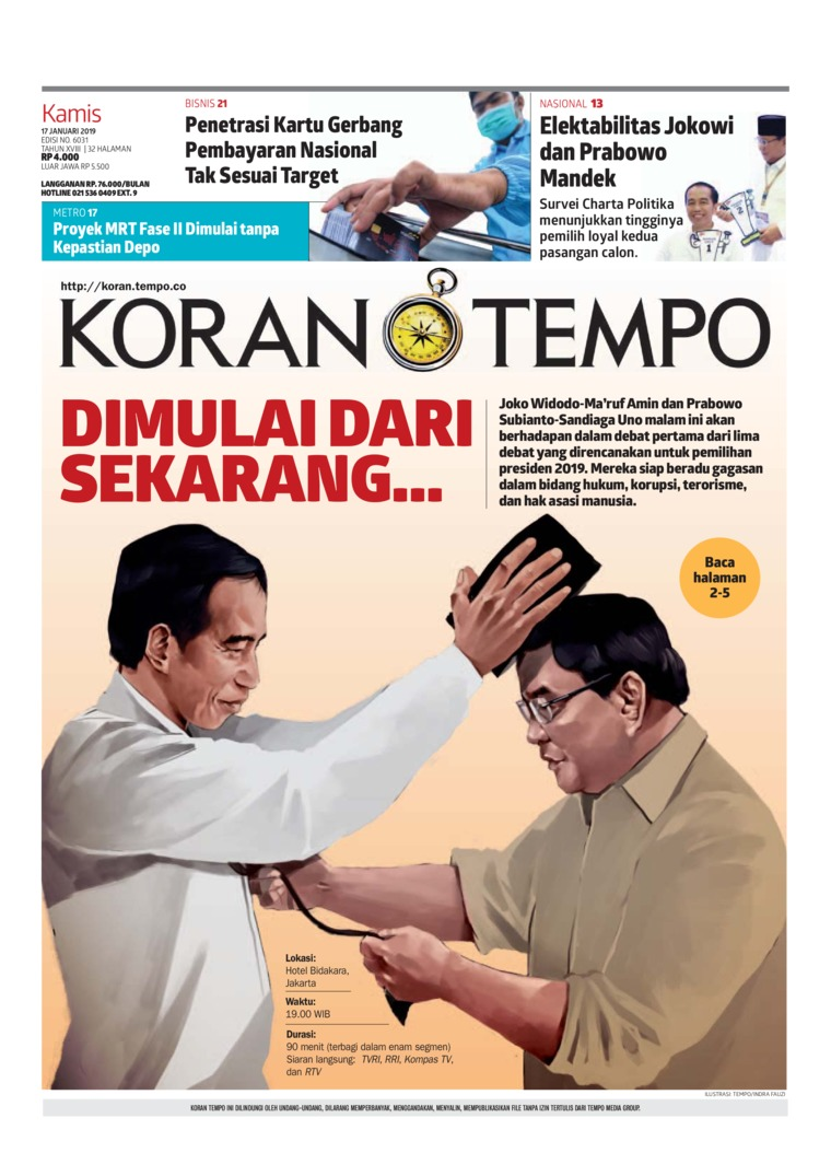 Koran Digital Koran TEMPO 17 Januari 2019