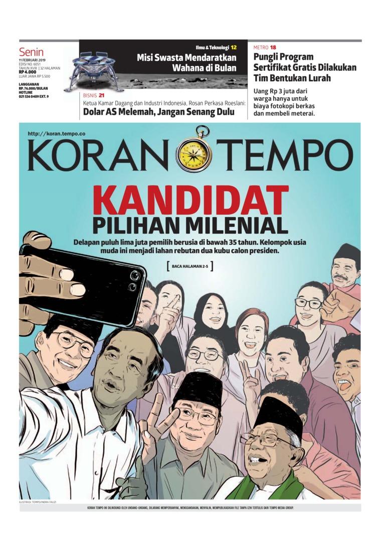 Koran Digital Koran TEMPO 11 Februari 2019