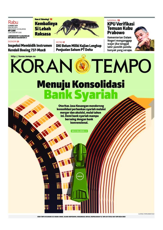 Koran TEMPO Digital Newspaper 13 March 2019