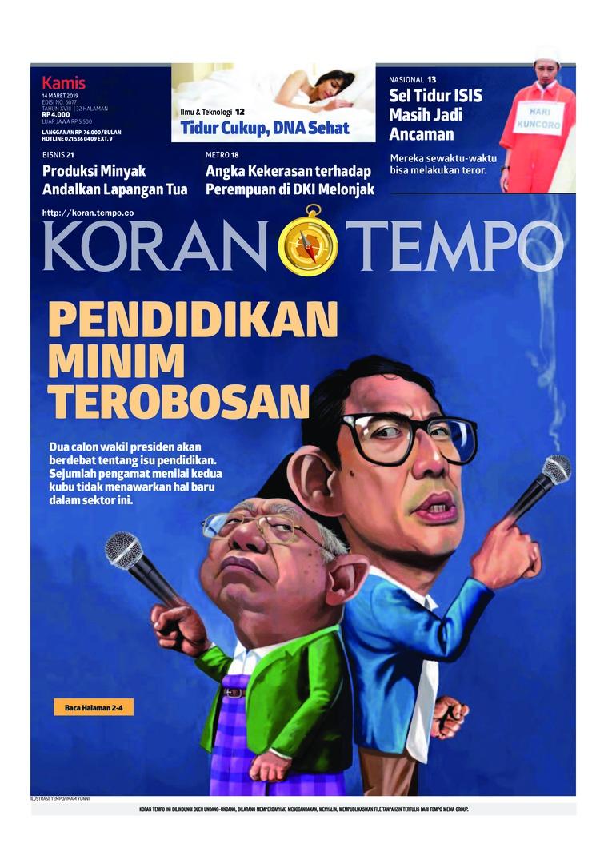 Koran Digital Koran TEMPO 14 Maret 2019