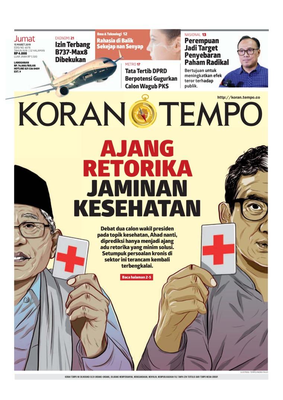 Koran Digital Koran TEMPO 15 Maret 2019