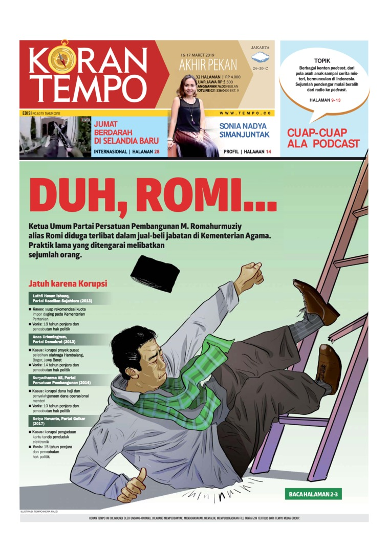 Koran Digital Koran TEMPO 16 Maret 2019