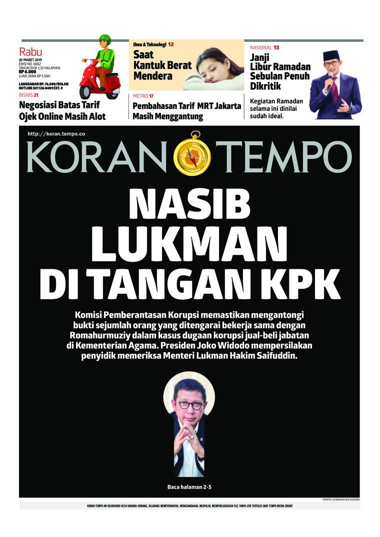 Koran Digital Koran TEMPO 20 Maret 2019