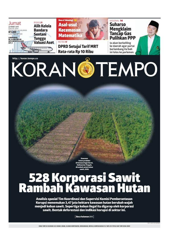 Koran Digital Koran TEMPO 22 Maret 2019
