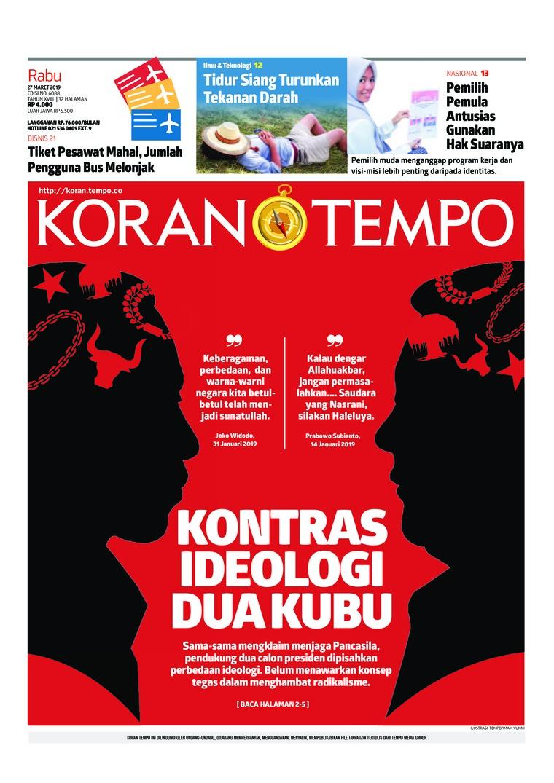 Koran Digital Koran TEMPO 27 Maret 2019