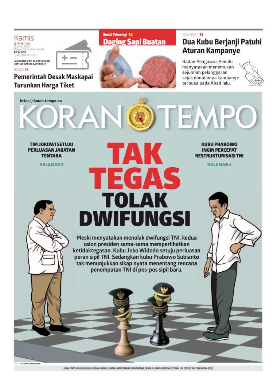 Koran Digital Koran TEMPO 28 Maret 2019