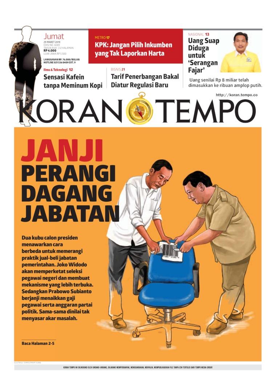 Koran Digital Koran TEMPO 29 Maret 2019