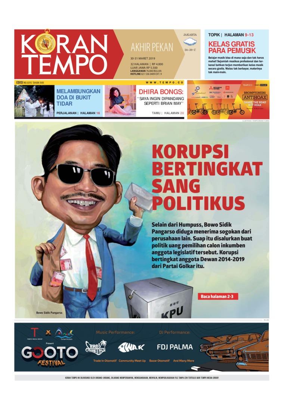 Koran Digital Koran TEMPO 30 Maret 2019