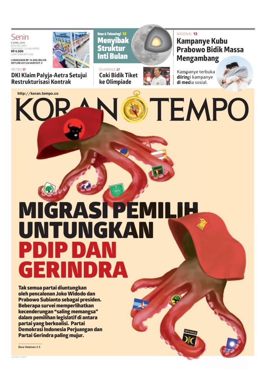 Koran Digital Koran TEMPO 08 April 2019