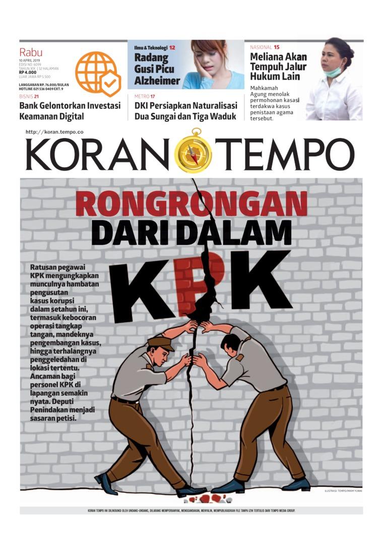Koran Digital Koran TEMPO 10 April 2019