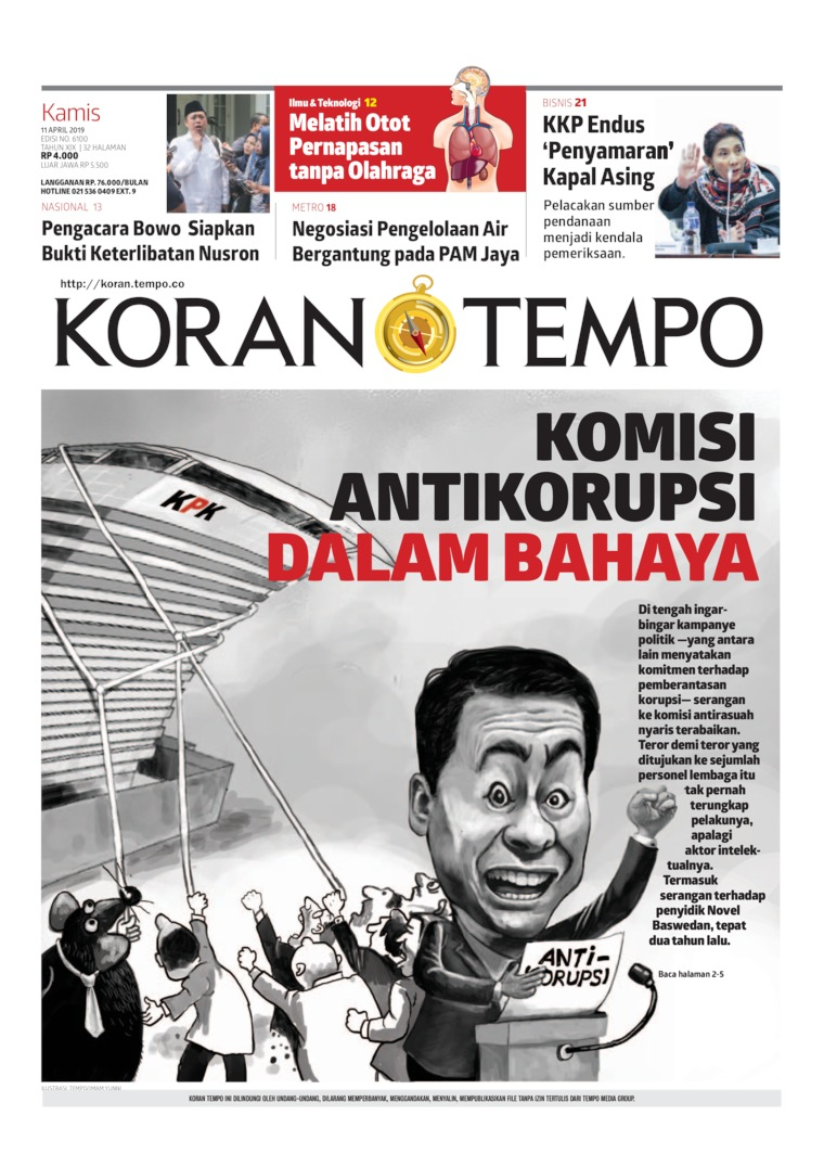 Koran Digital Koran TEMPO 11 April 2019