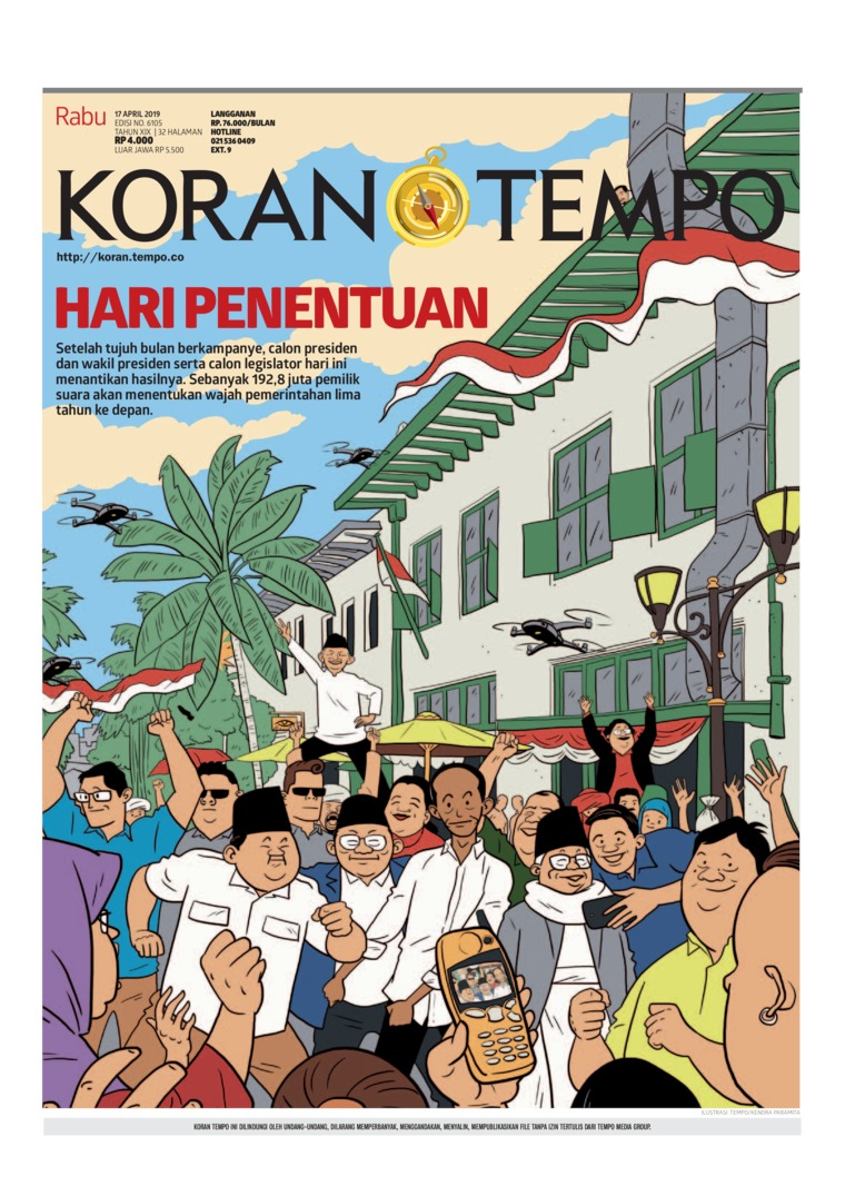 Koran Digital Koran TEMPO 17 April 2019