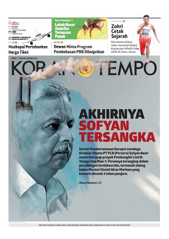 Koran Digital Koran TEMPO 24 April 2019