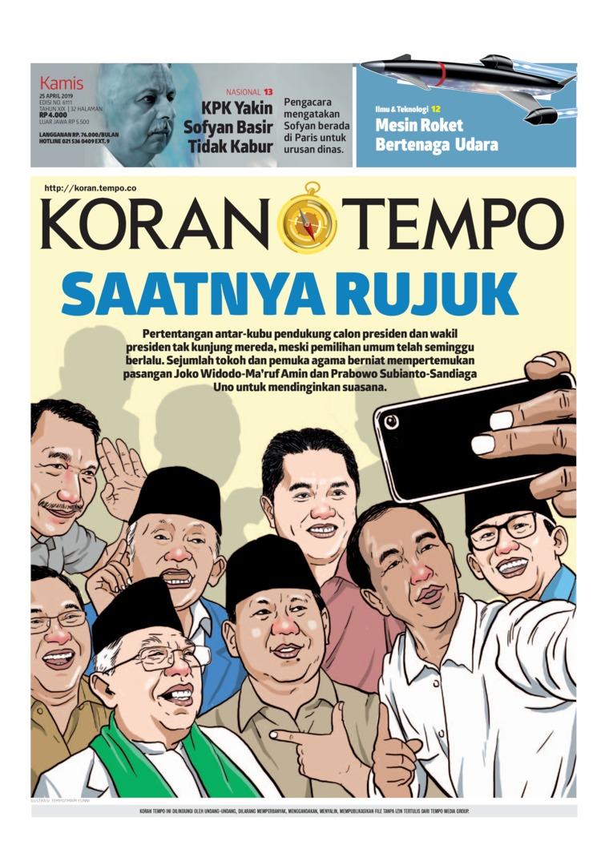 Koran Digital Koran TEMPO 25 April 2019