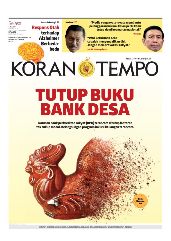 Koran TEMPO Digital Newspaper 07 May 2019