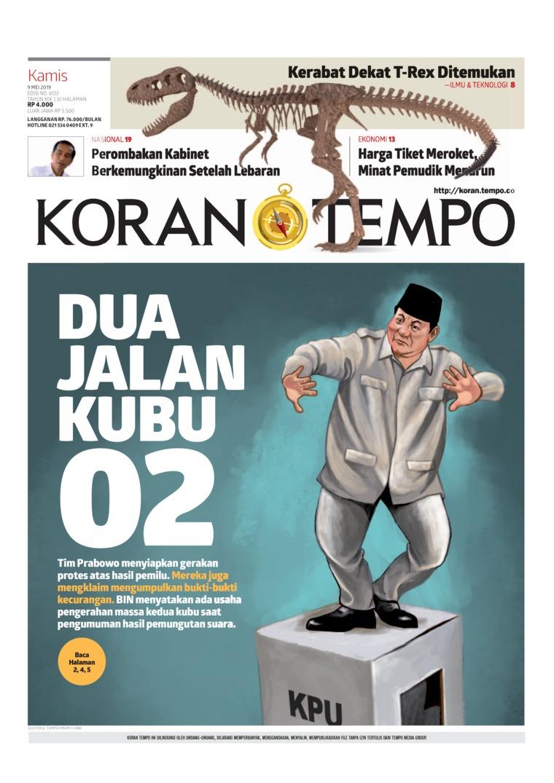 Koran TEMPO Digital Newspaper 09 May 2019