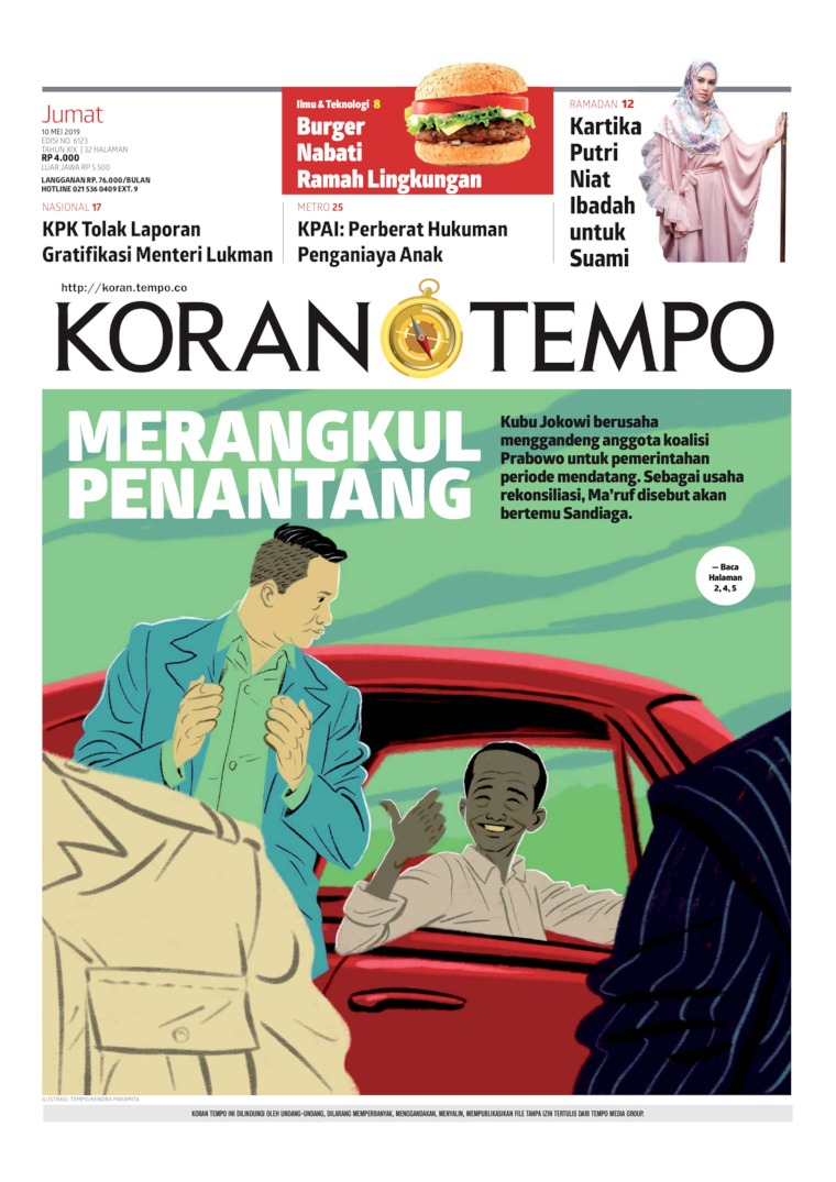 Koran TEMPO Digital Newspaper 10 May 2019