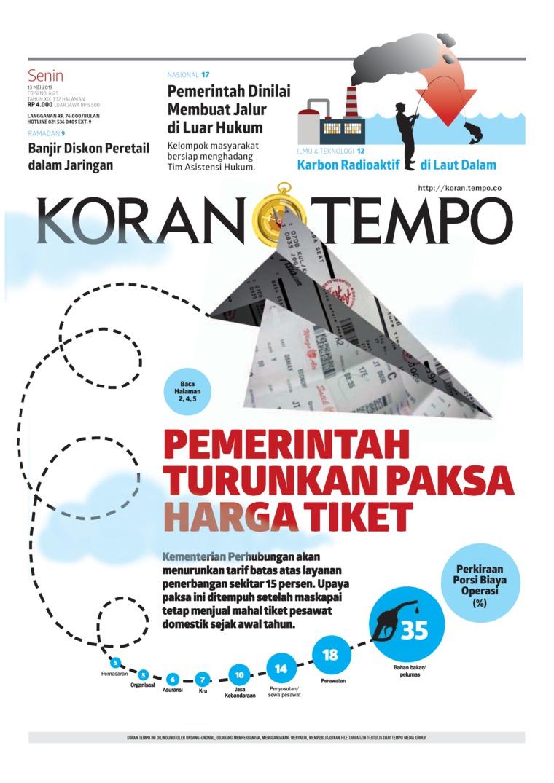 Koran Digital Koran TEMPO 13 Mei 2019