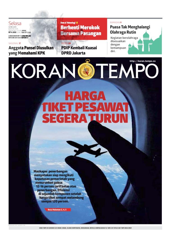 Koran TEMPO Digital Newspaper 14 May 2019